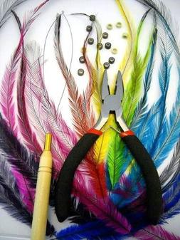 HAIR EXTENSION STARTER KIT 20 Feathers CRUELTY FREE