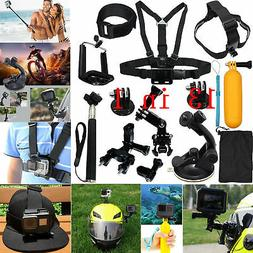 Head Chest Mount Floating Monopod Accessories Kit For GoPro