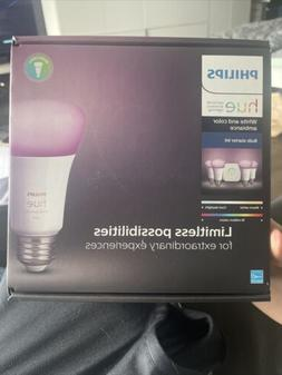 Philips Hue White and Color Ambiance A19 60W Equivalent Smar