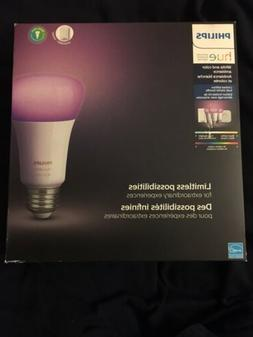 Philips - Hue White and Color Ambiance A19 Starter Kit  - Mu