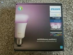 Philips Hue White and Color Ambiance E26 Bulb Starter Kit
