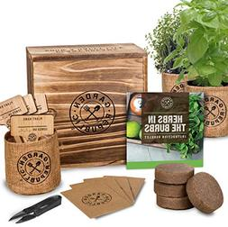Indoor Herb Garden Starter Kit - Organic, Non GMO Herb Seeds