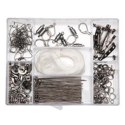 Darice Jewelry Findings Starter Kit with Caddy, Gunmetal, 17