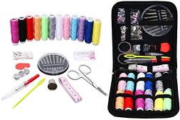 Sewing Kit for Travel,Mini sew kits supplies with 74 Portabl