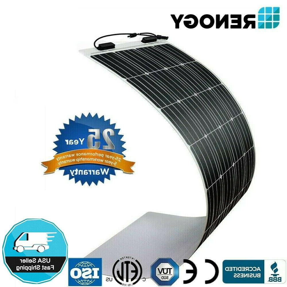 Renogy 100W 150W 160W Mono Flexible Solar Panel 12V PV Power