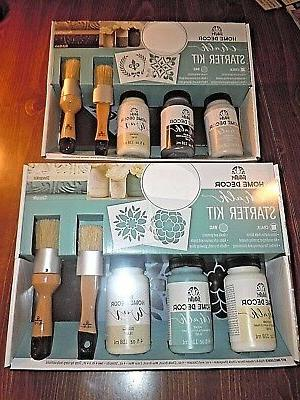 2 Chalk Paint Starter Kits FolkArt Home Decor 4 different co