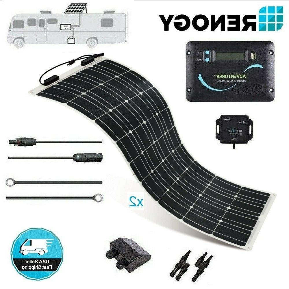 Renogy 200 Watt Higly Flexible Solar Panel RV Kit Caravan Ca