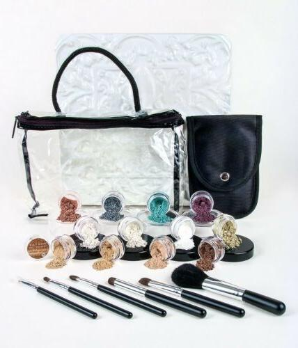 20pc STARTER KIT with BRUSHES Mineral Makeup Sample Size Set