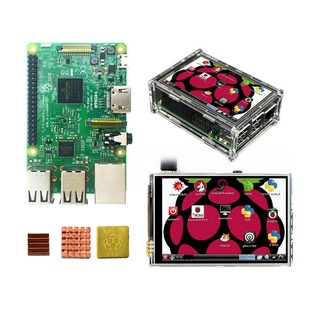 Raspberry Pi 3 Model B Starter, Complete Kits with 3.5 inch