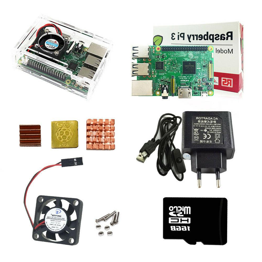 Raspberry Pi 3 Model B Starter Kits Quad Core 1.2GHz 64 bit