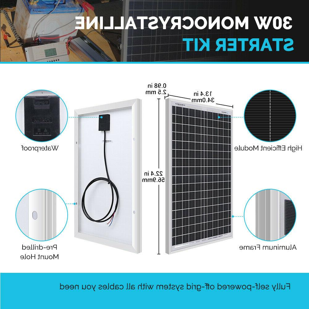 Solar Panel w/ Battery Charger