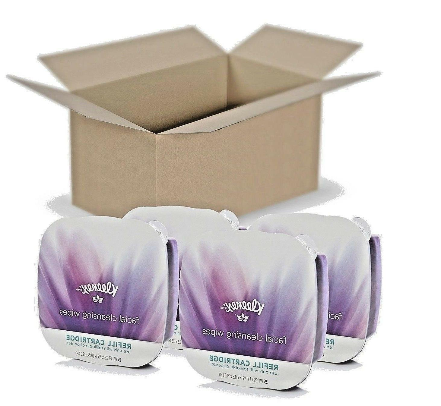 4 face cleansing wipes dispenser refill
