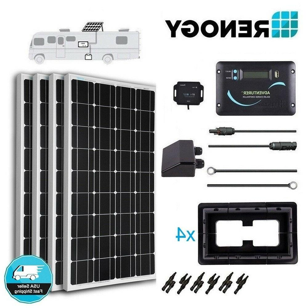 Renogy 400 Watt Mono Solar Panel RV Kit 400W 12V Battery Cha