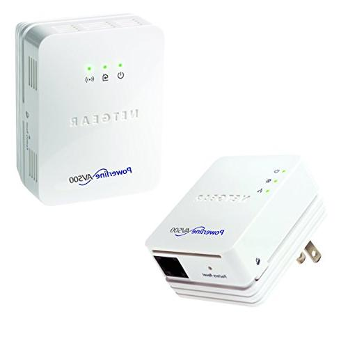 NETGEAR Powerline 500 + N300 WiFi and 1 Port Starter Kit