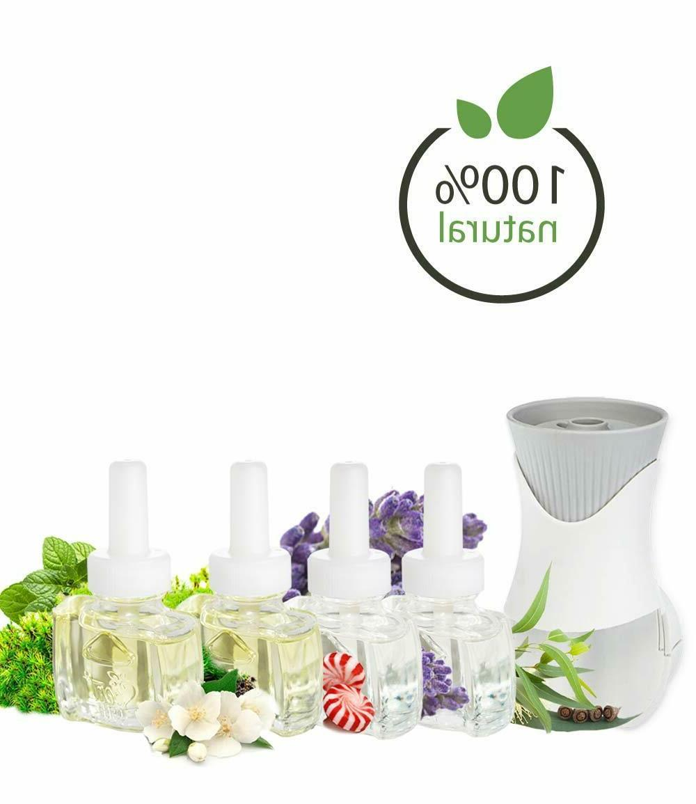 Natural Plug in Starter Kit with 4 Refills and Air Wick Oil