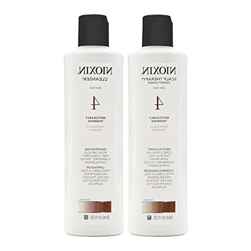 Nioxin System #4 Cleanser Shampoo 10.1 oz. & Scalp Therapy C