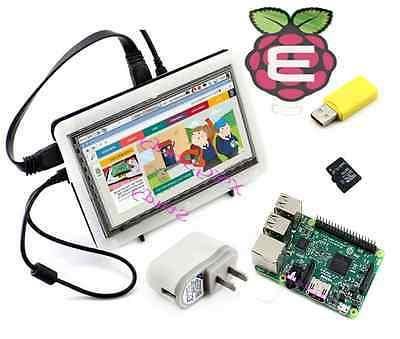 Pack-F Raspberry Pi 3 + 7 inch HDMI Touch LCD +16GB SD Card