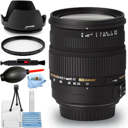 Sigma 17-70mm f/2.8-4 DC Macro OS HSM Lens for Nikon!! START
