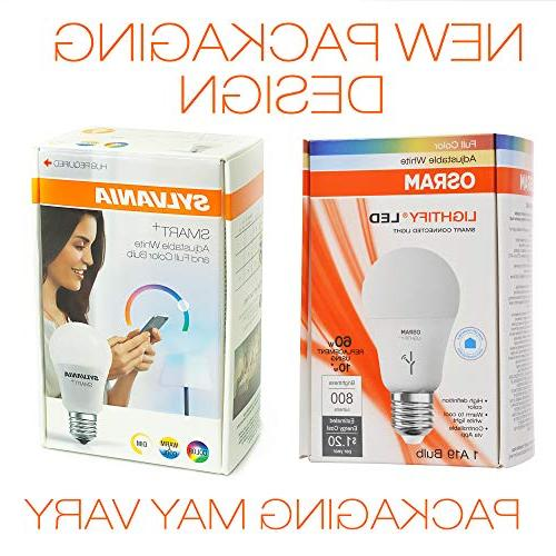 Sylvania Smart Sylvania Dimmable Led 10 W, 120 A19, 20000 Hr, Adjustable White and