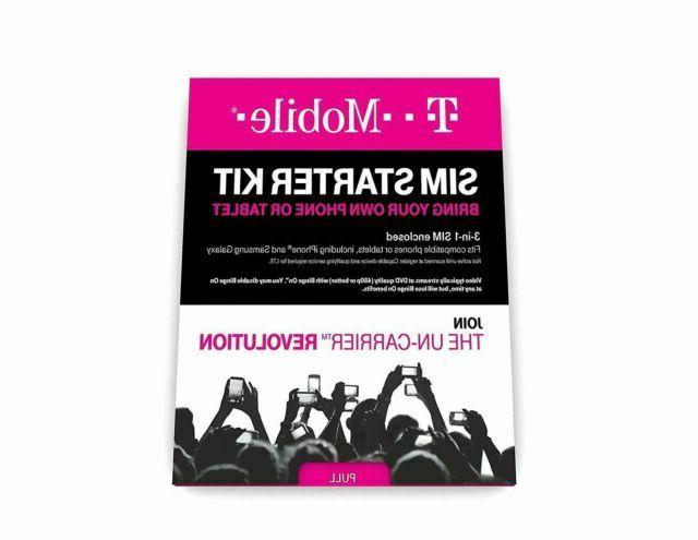 T-Mobile Starter Kit 3 in 1 SIM Card with Activation Code