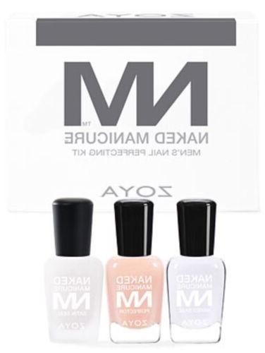 ZOYA Naked Manicure MEN'S STARTER KIT 3pc Polish, Base & Top