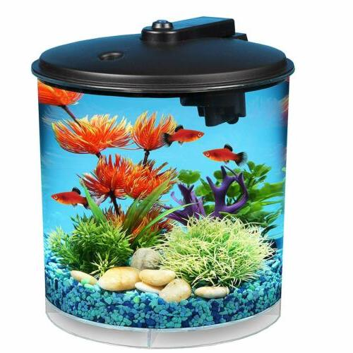 Aqua Culture 2-Gallon Fish Tank Kit with Lighting, NEW