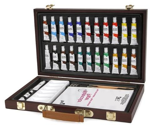 Watercolor Artist's Painting With 34 Pieces Ideal For