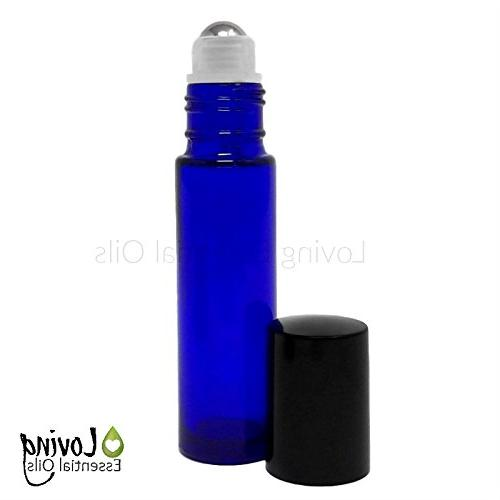 Essential Bottles: 20 PC for Aromatherapy. Blue Amber Empty Bottle Set, Lavender Guide, of Essential Oils, DIY Guide.