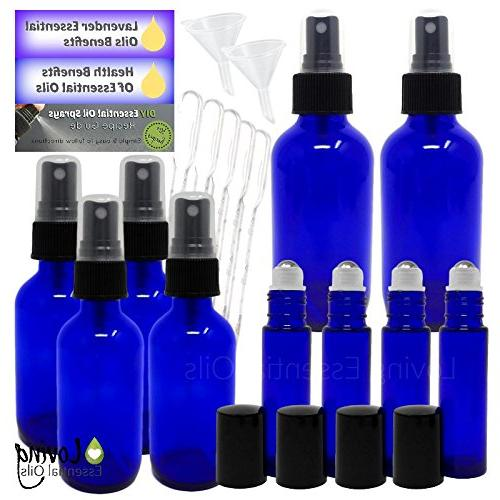 bottles kit aromatherapy blue amber