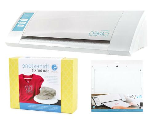 Silhouette Cameo 3 Bluetooth with Heat Transfer and Rhinestone Starter Kits