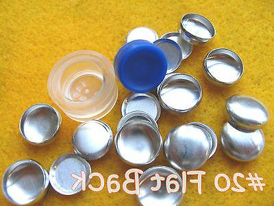 Cover Button Starter Kit Flat Back Buttons w/clear tool hand