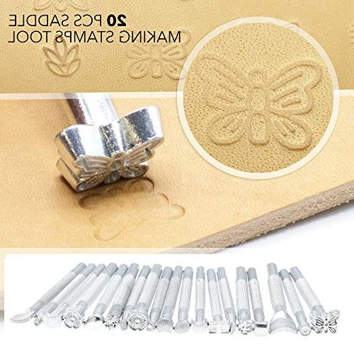 Leather Designs Piece Tools Sewing Stitching, Saddle Groover, Punch, Tools for Crafts Artwork