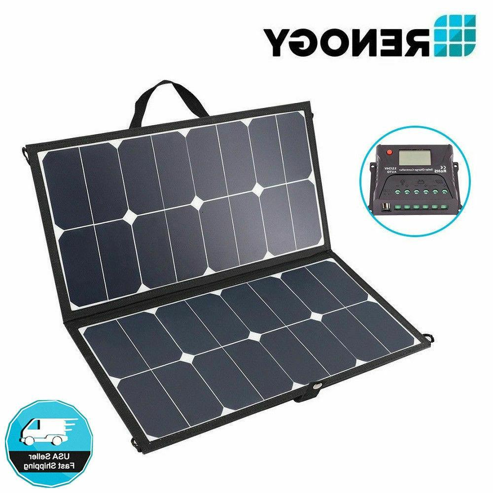 Renogy Eclipse 50W 12V Mono Solar Panel Kit Lightweight Suit