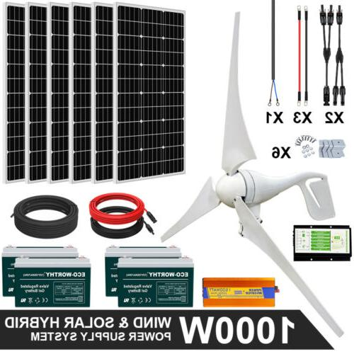 ECO 1000W Hybrid Solar Panel Kit Power Supply System