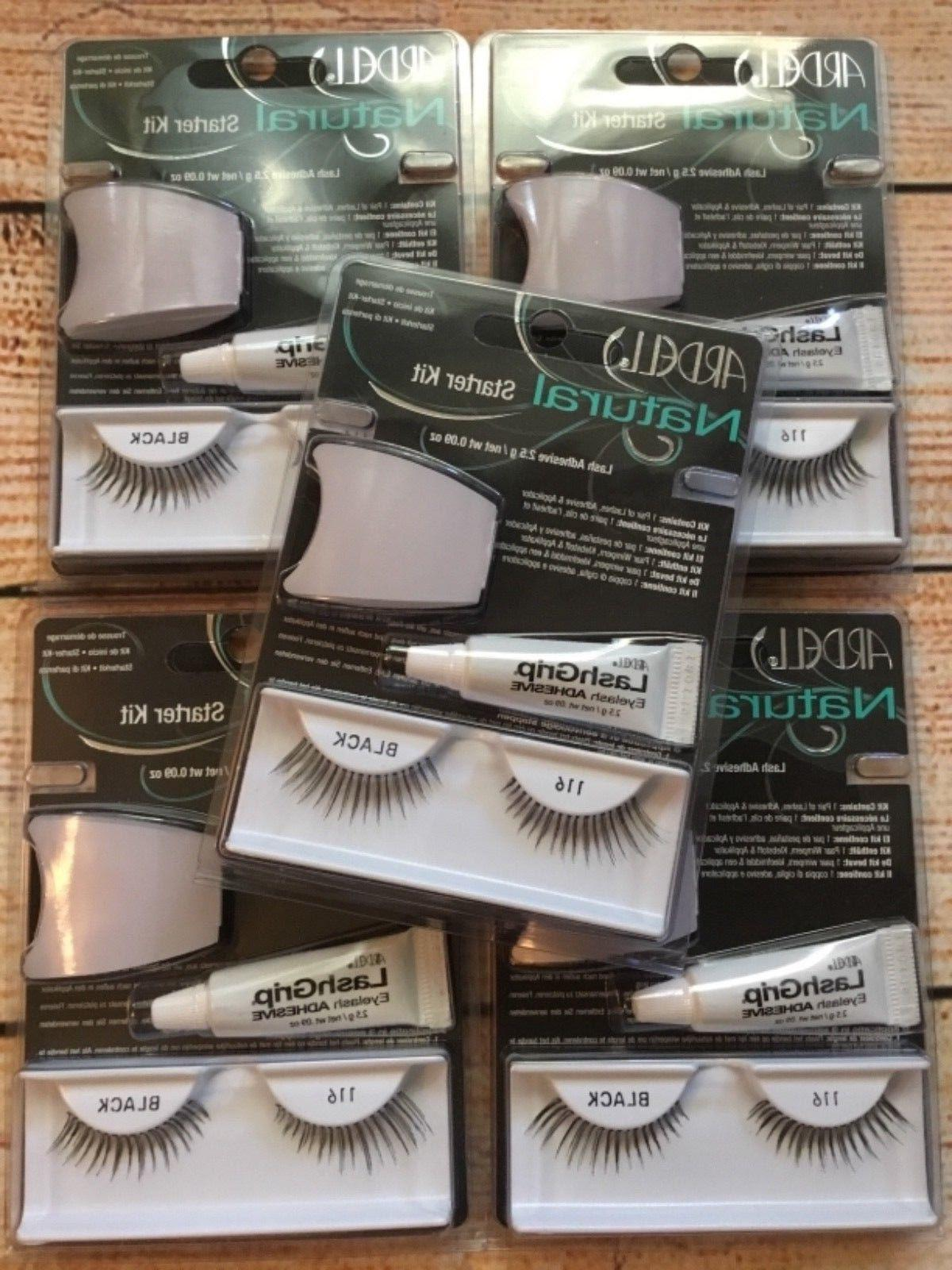 Ardell Glamour starter kit lashes false 116 Black LOT 5 sets