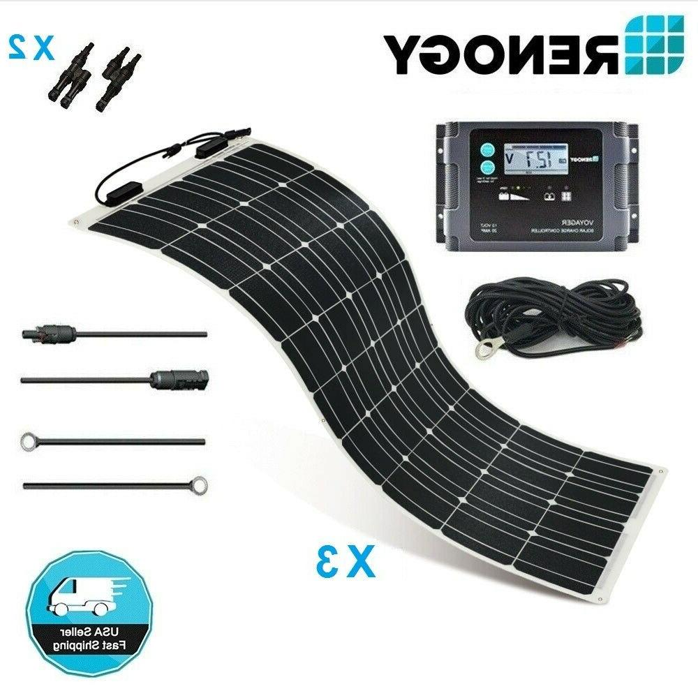 Renogy Highly Flexible 300W 12V Solar Panel Marine Kit Off G