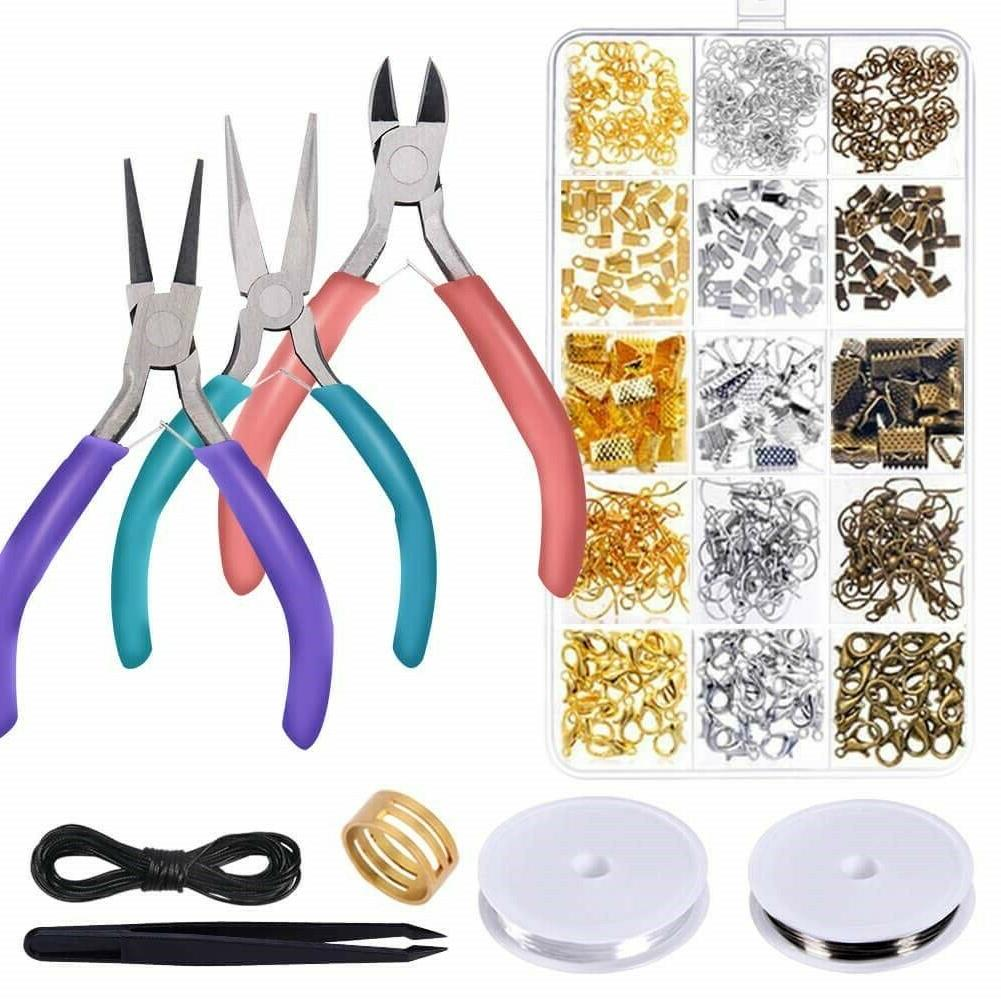 Jewelry Tool Kit Set Pliers Beading Accessories