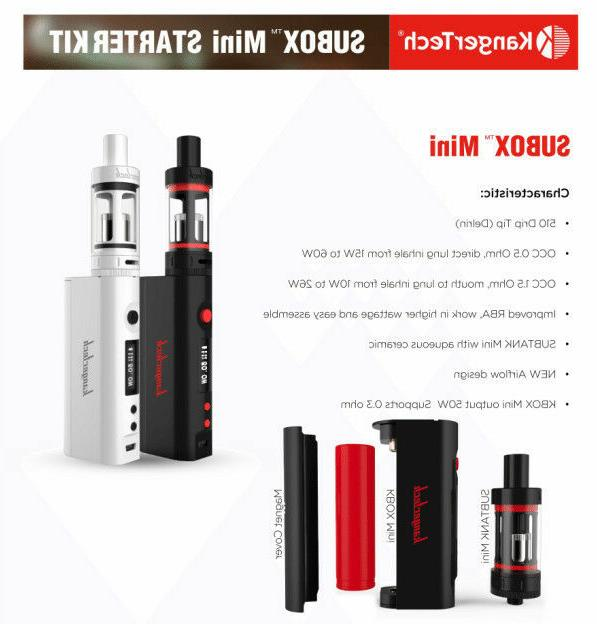 KangrTeh Starter Kit Mini Subox 50w - w/Battery