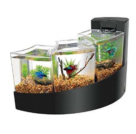 Aqueon KIT BETTA FALLS WHITE AQUARIUM FISH TANK NEW FREE 2 D