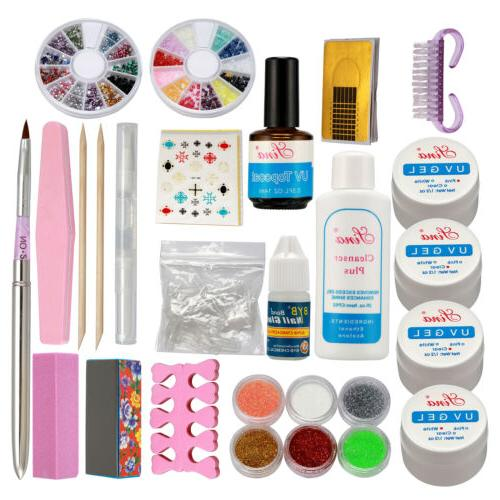 Full Acrylic Powder Nail Art Tool Starter Kit-Set Nail Tips