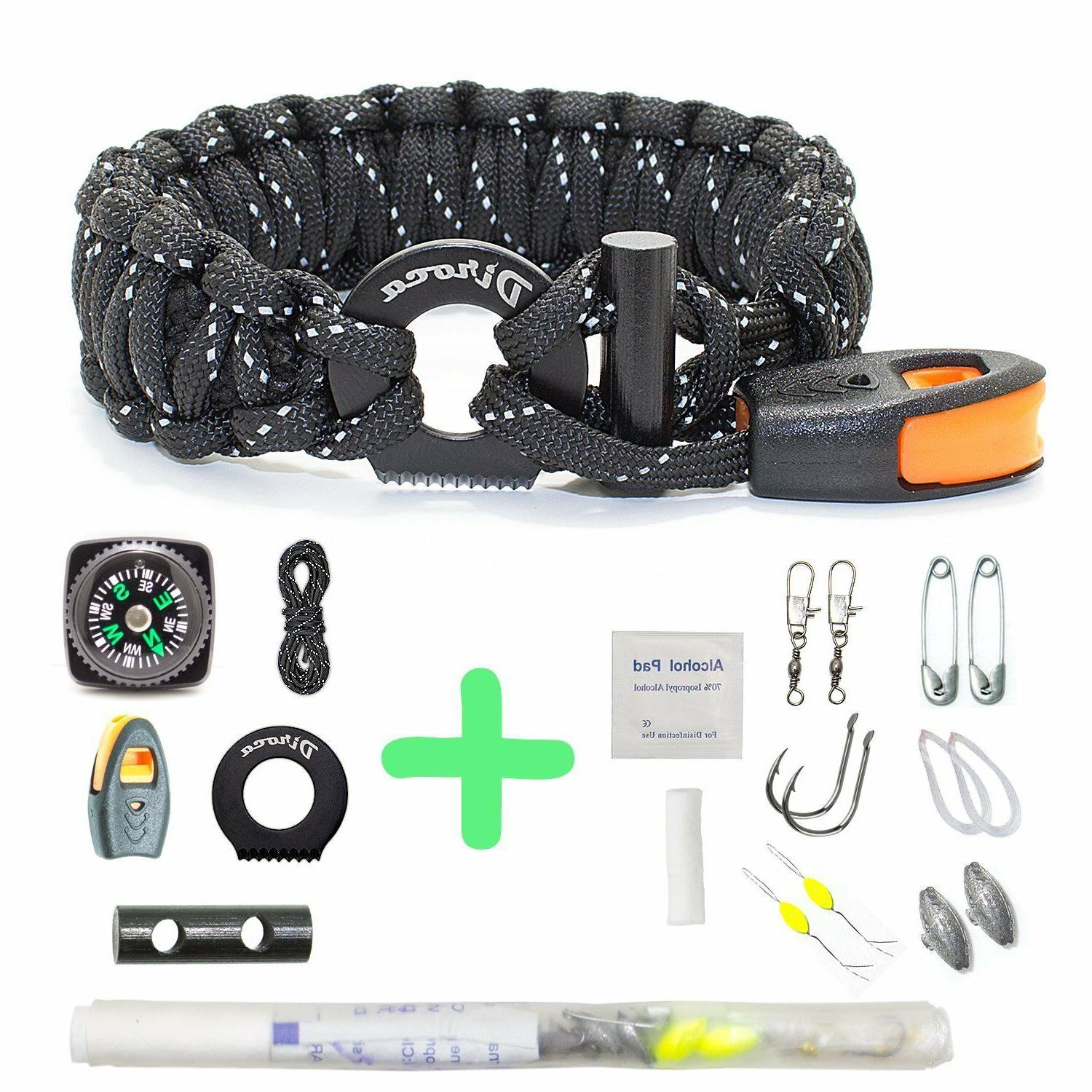 Paracord Bracelet Survival Gear Reflective Parachute Outdoor