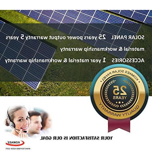 Komaes Volts Solar Kit with Charge Controller Tray 20ft MC4 + Mounting Z
