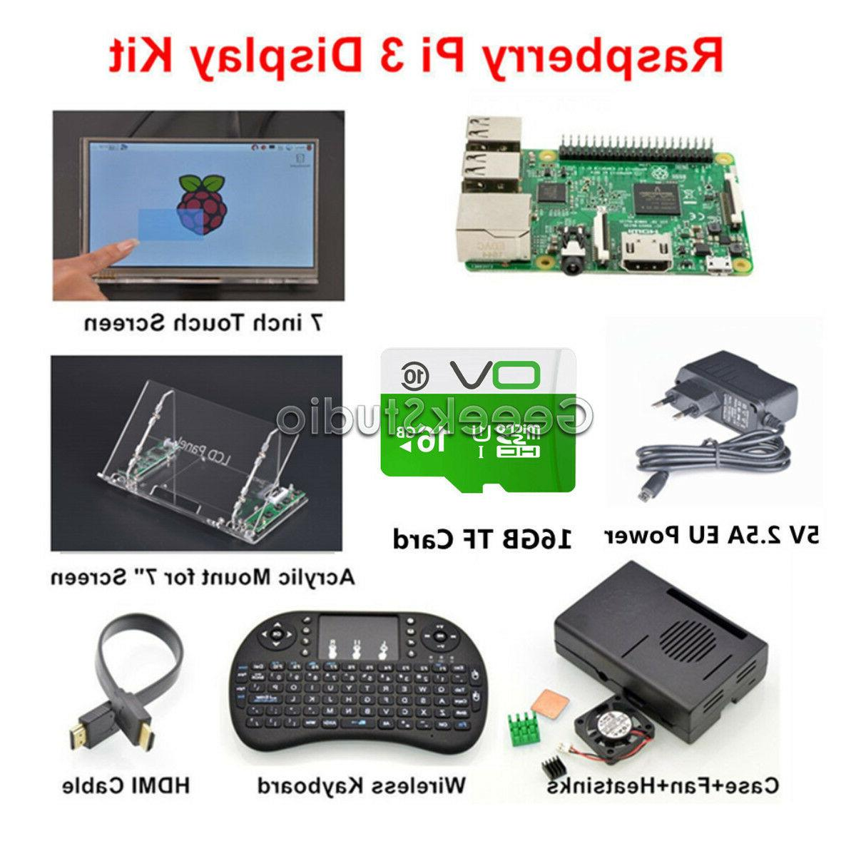 Raspberry Pi 3 16GB Starter Display Kit with 7 inch Touch Sc