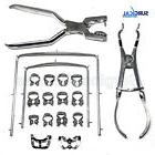 New Rubber Dam Kit Starter of 18 pcs with Frame Punch Clamps