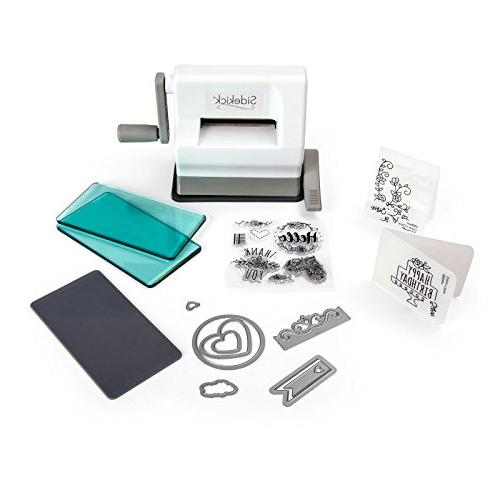 Sizzix Sidekick Starter Kit - with Aqua Cutting Embossing Pad, Embossing Dies Item