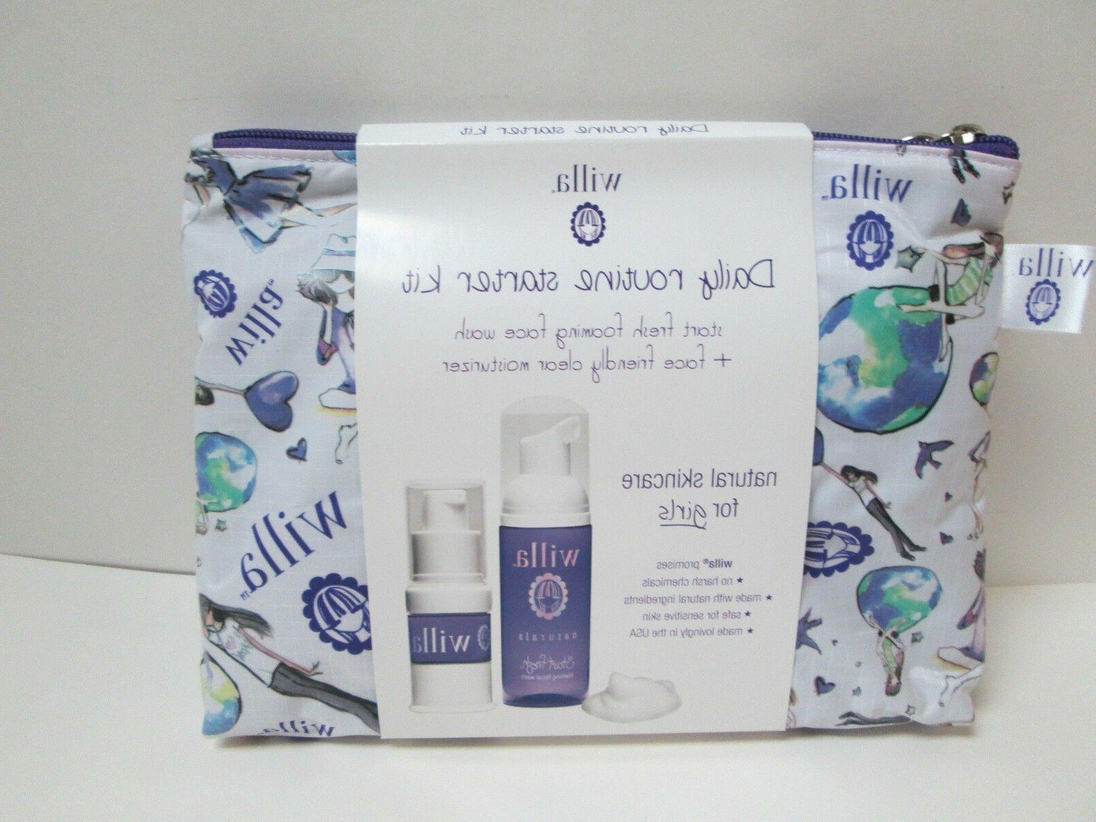 Willa Naturals Skin Care For Girls Daily Routine Starter Kit