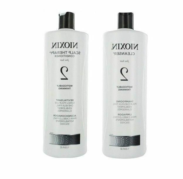 Nioxin System 2 Cleanser & Scalp Therapy Or Duo - 33.8 And 1
