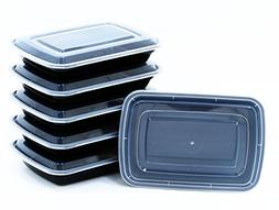 Blacware 5 Pack Best Meal Prep 1 Compartment Lunch Food Stor