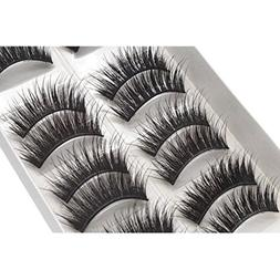 Lisin 10 Pairs Of Mechanism Half manual False Eyelash Hard S