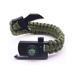 Camping Paracord Survival Bracelet Kit 500 LB - Outdoor Hiki